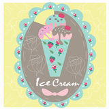 Logo sweet icecream Stock Photo