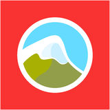 Logo with Swiss Alps Stock Image