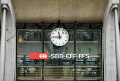 Logo of Switzerland railways, SBB, CFF, FFS Stock Images