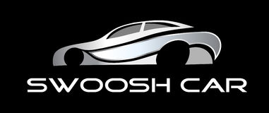 Logo Swoosh Car. For any business vector illustration