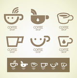 Logo and Symbol design coffee concept Royalty Free Stock Image