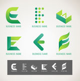 Logo and Symbol design E concept Royalty Free Stock Image