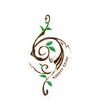 Logo Symbol Element Nature Grow stock afbeeldingen