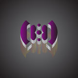 3D ART LOGO. LOGO FOR A SYMBOL OF HAPPINESS Royalty Free Stock Photos