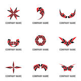 Vector Logo and symbol shapes Stock Images
