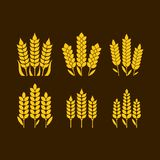 Logo and symbol of wheat for Thanksgiving Day stock illustration