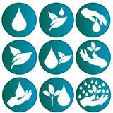 Logo symbolizuje wodę i naturę Fotografia Royalty Free
