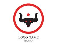 logo and symbols Bull horn royalty free illustration