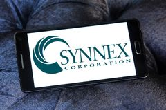 SYNNEX Corporation logo. Logo of SYNNEX Corporation on samsung mobile. SYNNEX Corporation is an information technology supply chain services company offering Stock Image