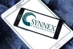 SYNNEX Corporation logo. Logo of SYNNEX Corporation on samsung mobile. SYNNEX Corporation is an information technology supply chain services company offering Stock Photo