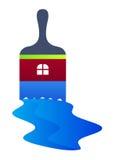 logo szczotkarska farba Zdjęcie Royalty Free