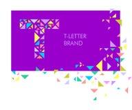 Logo T de lettre de triangle illustration libre de droits