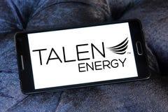 Talen Energy company logo. Logo of Talen Energy company on samsung mobile. Talen Energy is an independent power producer stock photos