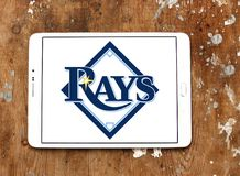 Tampa Bay Rays baseball team logo. Logo of Tampa Bay Rays team on samsung tablet. The Tampa Bay Rays are an American professional baseball Royalty Free Stock Images