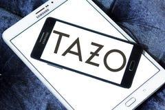 Tazo Tea Company logo. Logo of Tazo Tea Company on samsung mobile. Tazo Tea Company is a tea & herbal tea blender and distributor Royalty Free Stock Images