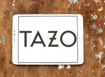 Tazo Tea Company logo. Logo of Tazo Tea Company on samsung tablet. Tazo Tea Company is a tea & herbal tea blender and distributor Stock Images