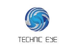 Logo TE stock illustrationer