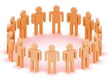 Logo Team of people. Logo Team of orange  people, 3d rendering (see more in my portfolio Royalty Free Stock Images