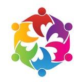 Logo teamwork love people hug friendship unity icon. Logo teamwork friendship unity business colorful people icon logotype vector illustration image icon Stock Photos