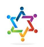 Logo teamwork star people Royalty Free Stock Photo