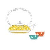 Logo teapot Royalty Free Stock Image