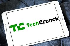 TechCrunch technology company logo Royalty Free Stock Images