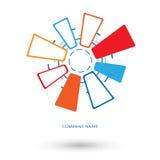 Logo technologia komunikacyjna Obraz Royalty Free