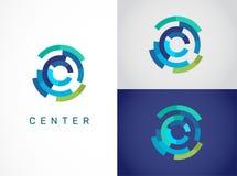 Logo - Technologie, Technologieikone und Symbol stock abbildung