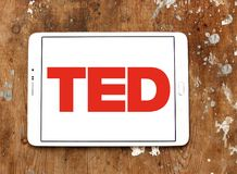 TED conference logo. Logo of TED conference on samsung tablet. TED Technology, Entertainment, Design is a media organization which posts talks online for free Royalty Free Stock Images
