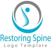 Restoring spine and logo image. This logo tells about the recovery of the spine, many among his people kususus for parents and office workers who many suffered Royalty Free Stock Photography