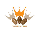 Logo template for a cafe,shop,coffee company Royalty Free Stock Images