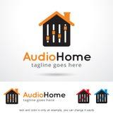 Logo Template Design Vector à la maison audio Images stock
