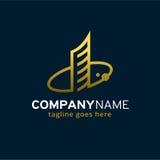 Logo Template Design Vector de construction abstrait, emblème, concept de construction, symbole créatif, icône Photos libres de droits