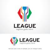 Logo Template Design Vector hexagonal abstrait, emblème, concept de construction, symbole créatif, icône Image stock