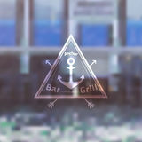 Logo Template für Meer-Fooda-Bar-Grill-Restaurant Stockfotografie