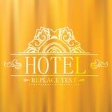Logo template flourishes graphic thai design Hotel,Restaurant t. Hai Illustration . eps10 Royalty Free Stock Photos