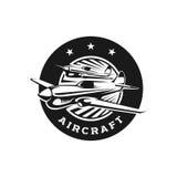 Logo Template-Flugzeugbildung stock abbildung