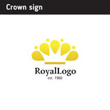 Logo template in the form of a crown Stock Photography