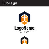 Logo template in the form of a cube Stock Photos