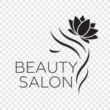 Logo template for hair salon, beauty salon, cosmetic procedures,. Spa center. Beauty logo for hair salon Royalty Free Stock Photos