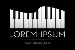 Logo template, music, grand piano keys, vector Royalty Free Stock Photos