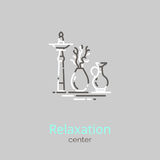 Logo template - Relaxation center Royalty Free Stock Images