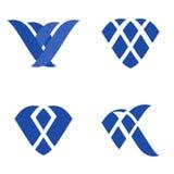 Logo Template Set geométrico plano abstracto Fotos de archivo