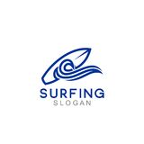 Logo Template surfant Photo stock