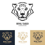 Logo template with tiger head. Stock Image