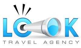 Logo template, for travel, advertising, or creative company Stock Photography