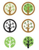 Logo template with tree i circle. Eco life style sign. Royalty Free Stock Photos