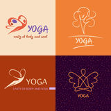 Logo template vector yoga studio. Image design for health Stock Photography