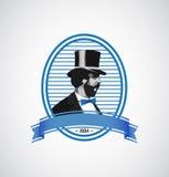 Logo template - vintage man illustration Royalty Free Stock Photos