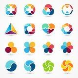Logo templates set. Modern vector abstract circle Royalty Free Stock Photo